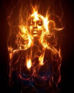 Image result for black woman with fire