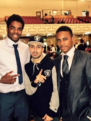 BYA host Adam Deacon  (centre) with guests