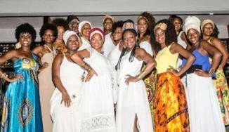 Candidates of Ilê Aiyê's 2015 Ebony Goddess contest